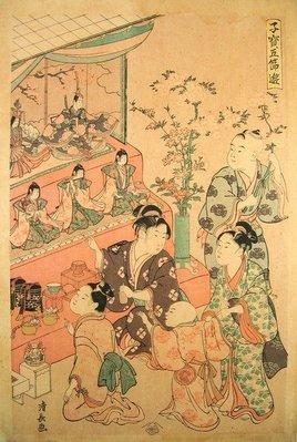 ((天堂鳥)) 日本女兒節版畫 #202