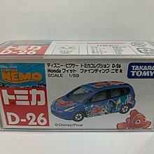 絕版 Takara Tomy Tomica Disney D-26 Finding Nemo Honda Fit 迪士尼 海底奇兵 車仔