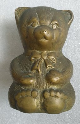 韓國 銅造熊仔錢箱