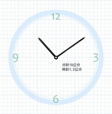 【鐘點站】T100072  SUN機芯專用 指針 / 分針100mm 時針72mm / DIY 時鐘 掛鐘 鐘針