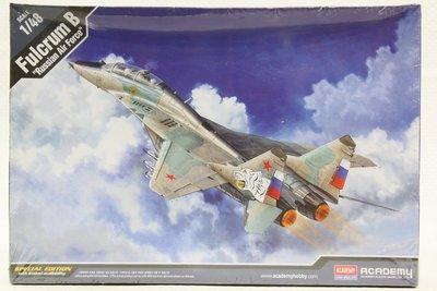 【統一模型】ACADEMY《俄國空軍 米格29戰鬥機 MIG-29UB FULCRUM B》1:48 # 12292