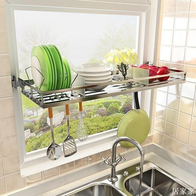 精選 廚房置物架 壁掛水槽瀝水碗架304不銹鋼放碗碟鍋架用品收納架子