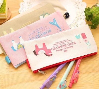 『小妹的店』帆布筆袋 小馬造型筆袋 鉛筆盒 小物袋 雜物袋