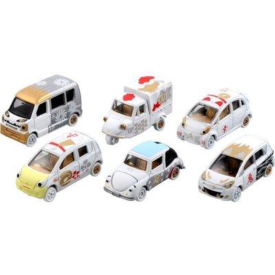 TOMICA 多美 迪士尼小汽車 2015 新年紅白車 (白) 開運招福 中盒6入 (82619)