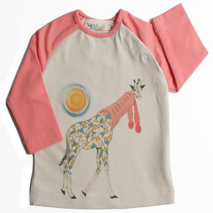 〖洋碼頭〗西班牙原產MoNiKaKoKids嬰兒上衣帶肩扣長袖6個月-2歲 L2928