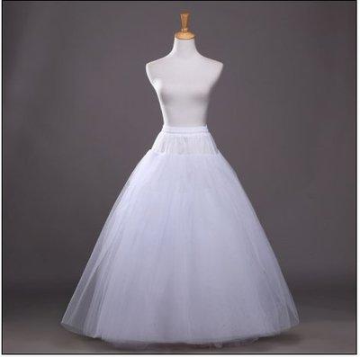 凡妮莎婚紗裙撐 4層無骨無痕硬紗蓬蓬撐裙 澎裙 婚紗 禮服
