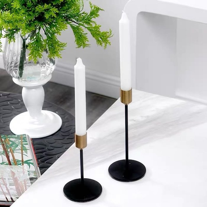 質量質感 金屬件 歐風 蠟燭台