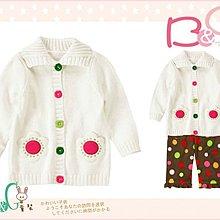 【B& G童裝】正品美國進口Crazy8 花朵造型口袋白色長袖毛衣外套6-12mos
