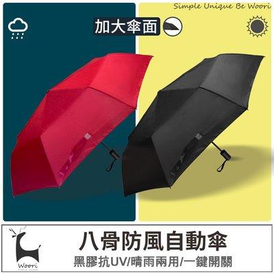 【現貨】防風雨傘 自動傘 黑膠不透光 雙人傘 傘 抗UV雨傘 折傘 晴雨兩用 摺疊傘 自動摺疊傘 折傘 大傘面 防曬遮陽