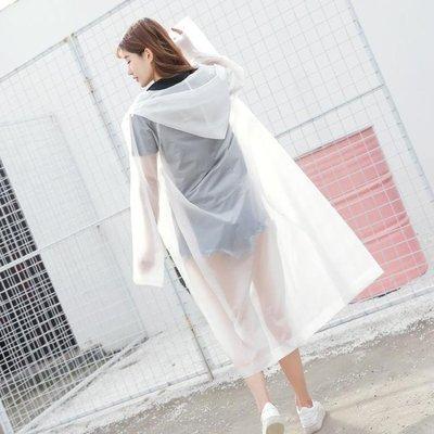 雨衣透明成人徒步旅游雨衣時尚男女裝外套戶外長款加厚雨衣