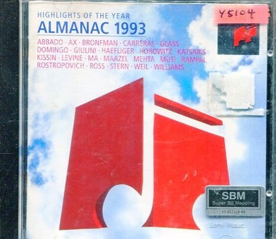 *還有唱片行* ALMANAC 1993 / HIGHLIGHTS OF THE YEAR 二手 Y5104