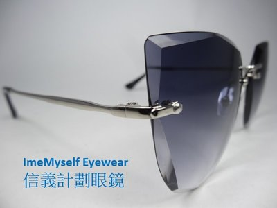 GEORGE BOY S31153 brilliant cut rimless UV400 sunglasses Rx