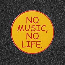 PVC防水貼紙 no music no life 機車 行李箱 安全帽 滑板 嘻哈 旅行箱 電腦 滑雪板 1508