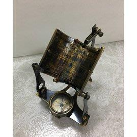 【友客里】((8日晷))- 古代時鐘-日圭-日臬-日規-北半球-黑銅色
