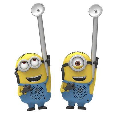 預購 美國帶回 神偷奶爸 Minions 小小兵 Q版 超可愛造型無線對講機 生日禮 親子玩具