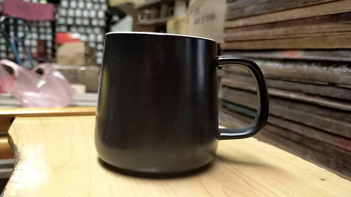 【無敵餐具】台製霧黑色馬克杯(350cc)啞光黑/餐廳用馬克杯/咖啡杯/拿鐵杯 開店量多可來電洽詢【HDC-10】