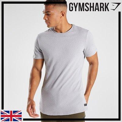 GYMSHARK UNWIND T-SHIRT 純棉放鬆長版短袖T恤-淺灰