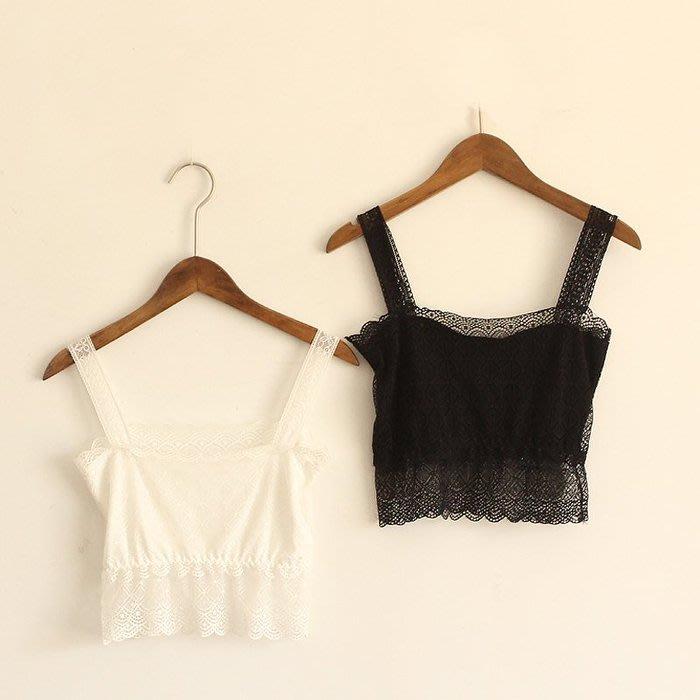 CHERRY LALA 超百搭蕾絲舒服透氣防走光美背 露肩內搭小可愛-白/黑 熱賣    特價