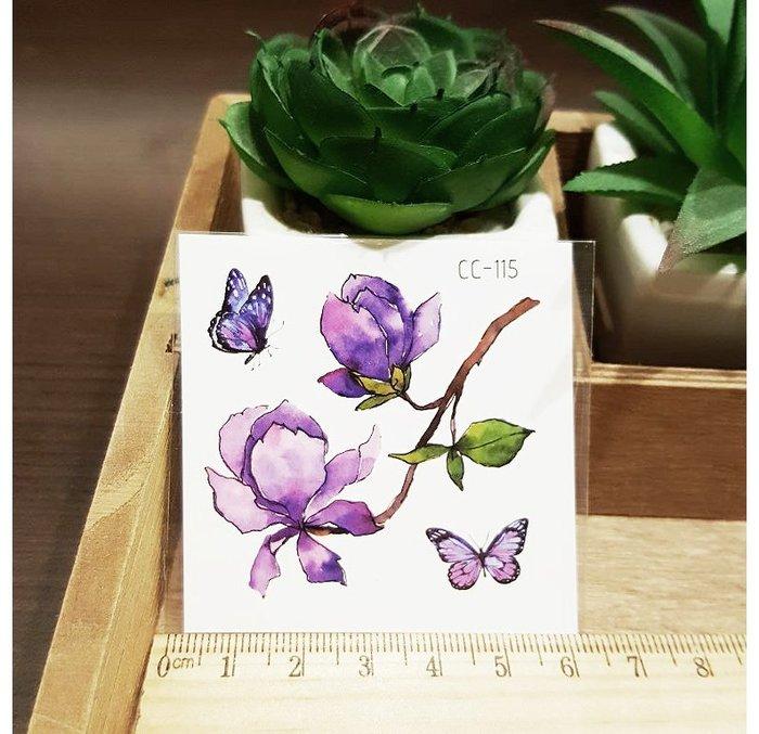 【萌古屋】花朵單圖CC-115 - 防水紋身貼紙刺青貼紙K38