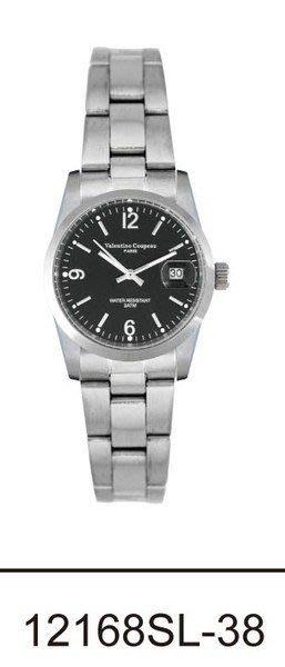(六四三精品)Valentino coupeau(真品)(全不銹鋼)精準女錶(附保証卡)12168SL-38