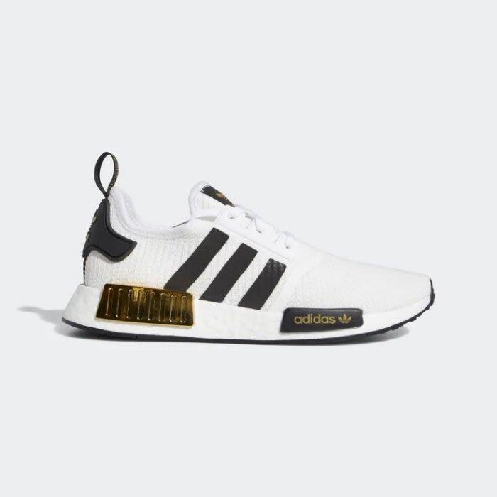 POMELO柚 Adidas NMD_R1 EG5662 BOOST 白黑色 愛迪達 休閒運動鞋 男鞋 白黑色