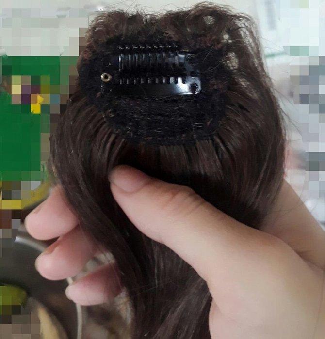 真髮墊髮片  一扣式