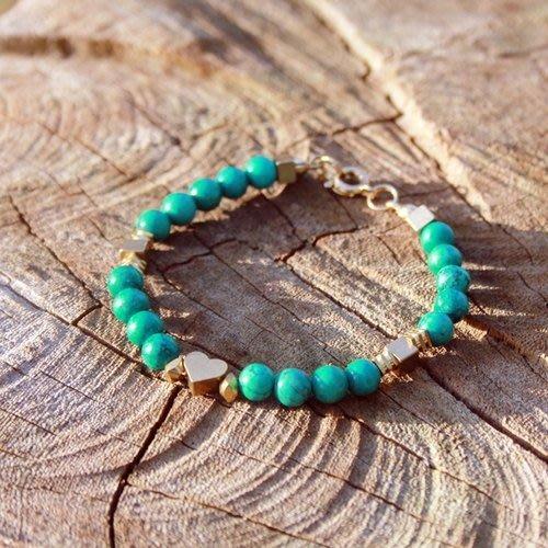 綠國度 ::green - 天然石 / 綠松石 / 黃銅 /手鍊手環 禮物客製設計