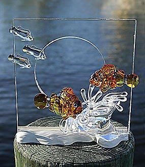 SWAROVSKI 施華洛世奇 會員商品【2005年絕版和諧 - 小丑魚、年度愛心】
