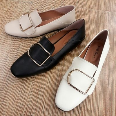 2穿牛津鞋 MIT台灣製 韓版超人氣熱賣款 文青氣息大D扣樂福鞋-IP shoes