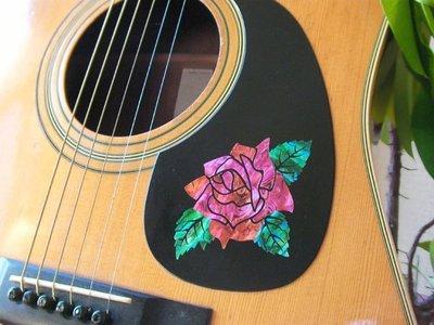 園之屋 現貨 日本 Inlay sticker 大馬士革玫瑰 護板/琴身貼紙 民謠吉他 電吉他 貝斯