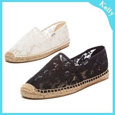 Kelly代購* Soludos 【蕾絲_基礎套腳款】15年新版休閒草編帆布鞋 toms