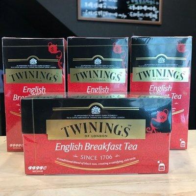 *卡拉拉咖啡精品*英國 TWININGS 唐寧茶 英倫早餐茶 ( 2g×25入 )