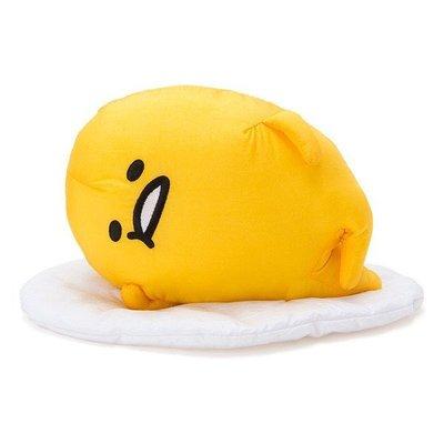 尼德斯Nydus~* 日本正版 三麗鷗新成員 療癒系 蛋黃哥 無力蛋 抱枕 靠枕 娃娃 高約15cm