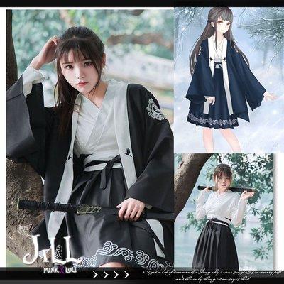 Oo吉兒oO和風改良日式浴衣 優雅雲仙鶴撞色和風連衣裙【J2F4197】