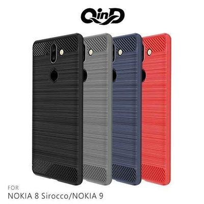 *Phone寶*QinD NOKIA 8 Sirocco/NOKIA 9 拉絲矽膠套 TPU 防摔殼 手機殼 保護套