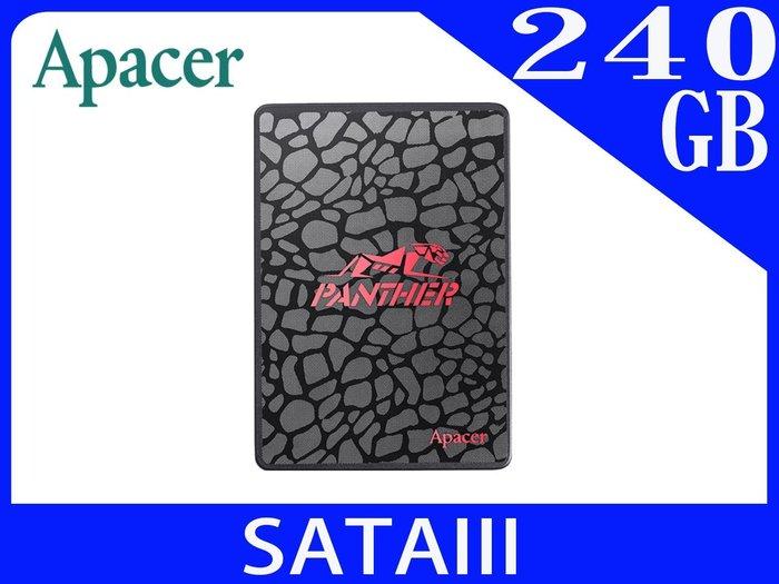 【240B SSD SATA】240G Apacer AS350 SATAIII 2.5吋 固態硬碟 同規格性價比最高