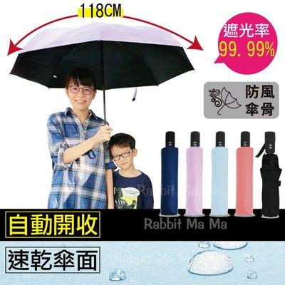 雨傘/46吋極簡遮光黑膠素色自動開收傘自動傘/防風超撥水抗UV/雙龍牌 傘/自動晴雨傘/超撥水/防曬陽傘/洋傘/親子傘