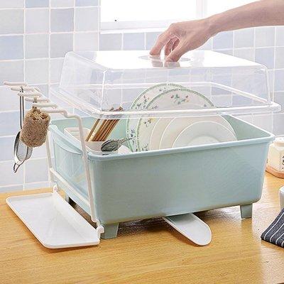 大號塑料碗櫃廚房瀝水碗架帶蓋碗筷餐具收納盒放碗盤勺濾水置物架精品生活
