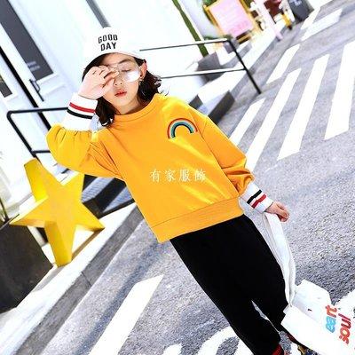 有家服飾價 2019春裝女童衛衣兒童新款正韓洋氣長袖上衣中大童