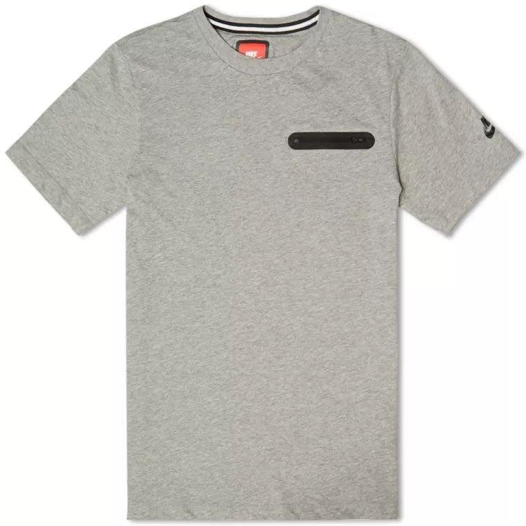 南◇特價現 NIKE GLORY TECH POCKET TEE  防水拉鍊 素T 短袖T恤 黑/灰 素面 口袋T 短T