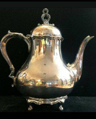 470 高級英國維多利亞鍍銀壺Antique Silver Plate Tea Pot (Reed & Barton )