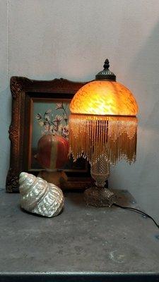 -歐風玻璃檯燈
