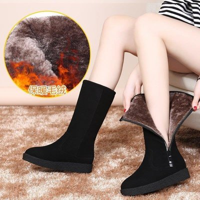麥麥部落 雪地靴女潮新款冬皮毛一體加絨保暖棉靴防水防滑中筒厚MB9D8