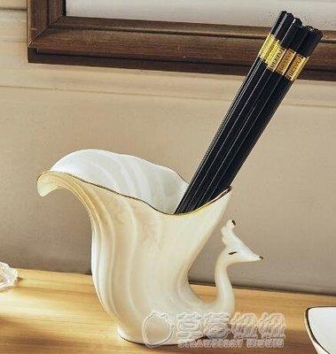 歐式陶瓷勺托筷子筒筷子盒廚房用品創意筷...