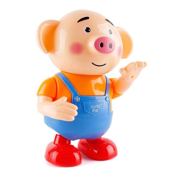 廠家~低價港比熊海草舞跳舞豬會唱歌走路電動萌萌小豬寶寶男孩女孩兒童玩具