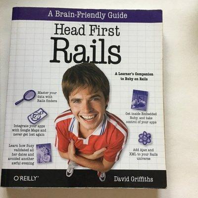 [二手書籍] 英文版 Head First rails Ruby 程式語言 電腦 網路 工程師 教育 自學 *舊愛二手*