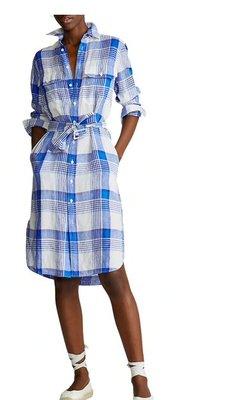 Polo Ralph Lauren Plaid Linen Shirtdress