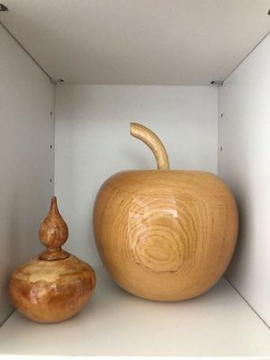 台灣黃檜聚寶盆 原始林一代木 蘋果造型 檸檬香 平平安安 不含左下角的喔