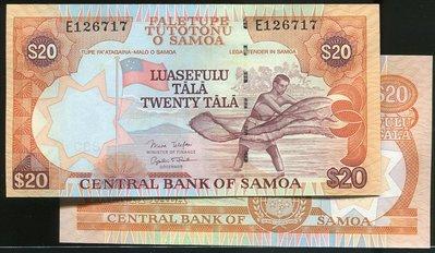 Western Samoa (西薩摩亞紙幣), P35 , 20-TALA , ND(2005) , 品相全新UNC