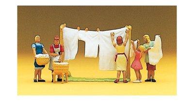 傑仲 (有發票) 博蘭 公司貨 Preiser 人物組 Women hanging laundry 10050 HO